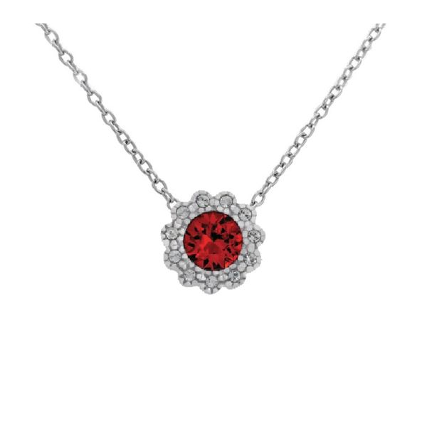 With You Locket, January birthstone pendant sold without chain. Holliday Jewelry Klamath Falls, OR