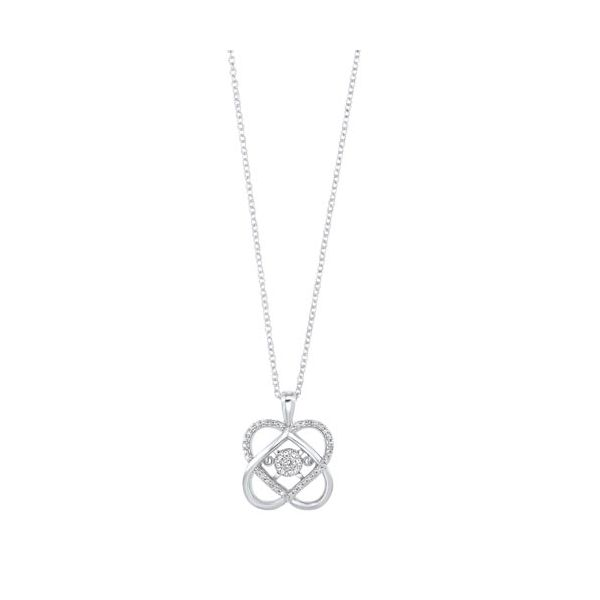 Sterling silver Loves crossing diamond pendant. Holliday Jewelry Klamath Falls, OR