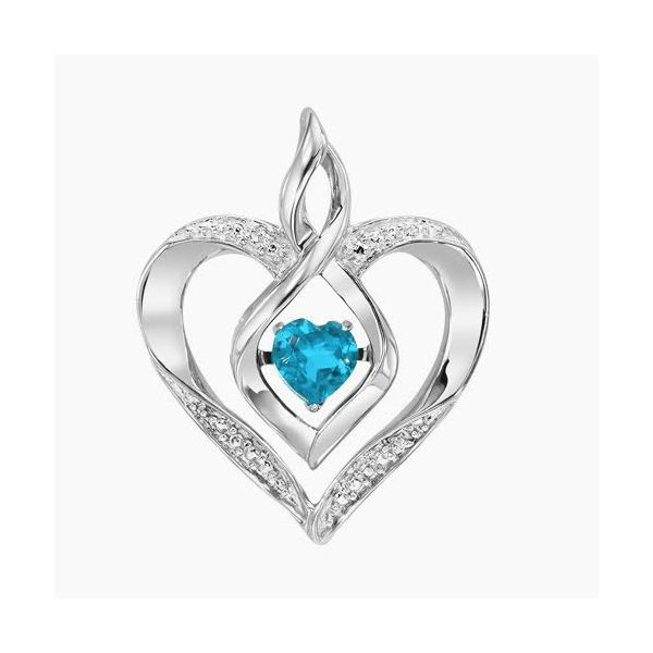 Created Blue Topaz Heart Pendant Holliday Jewelry Klamath Falls, OR