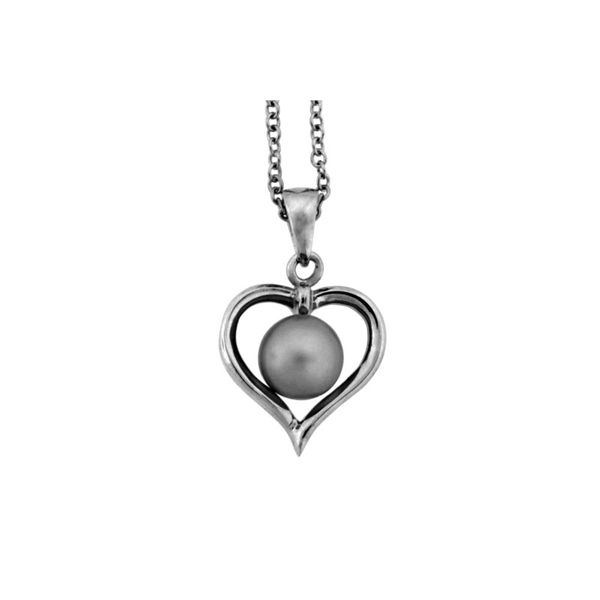 Sterling Silver Pearl Heart Pendant Holliday Jewelry Klamath Falls, OR