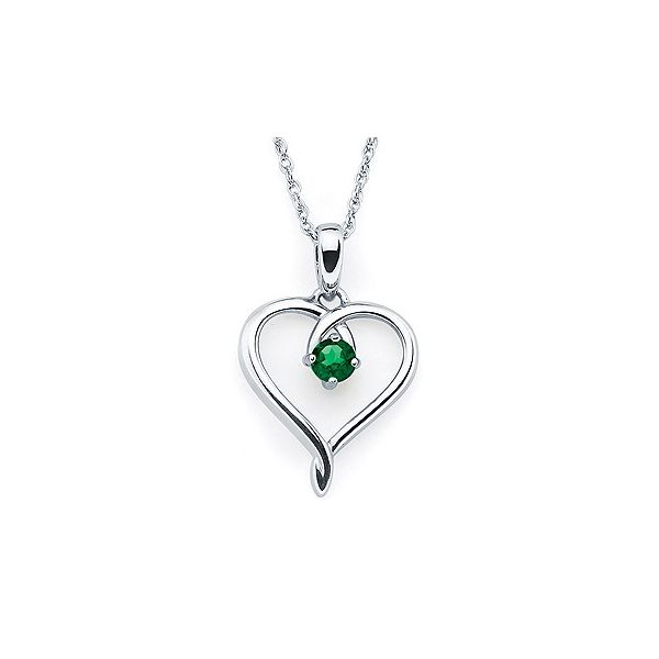 Simulated Emerald Heart Pendant Holliday Jewelry Klamath Falls, OR