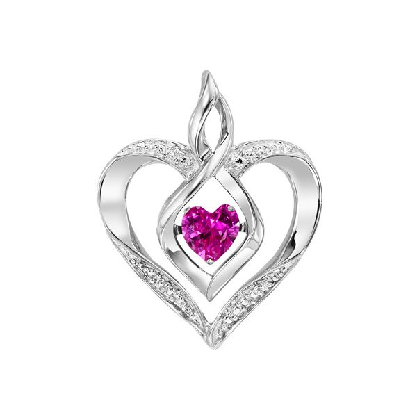 Created Pink Tourmaline Heart Pendant Holliday Jewelry Klamath Falls, OR
