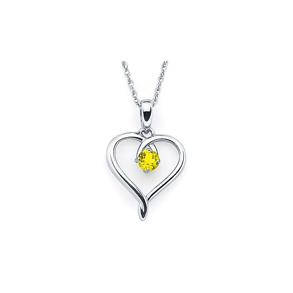 Sterling silver November heart pendant. Holliday Jewelry Klamath Falls, OR