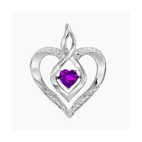 Created Amethyst Heart Pendant Holliday Jewelry Klamath Falls, OR