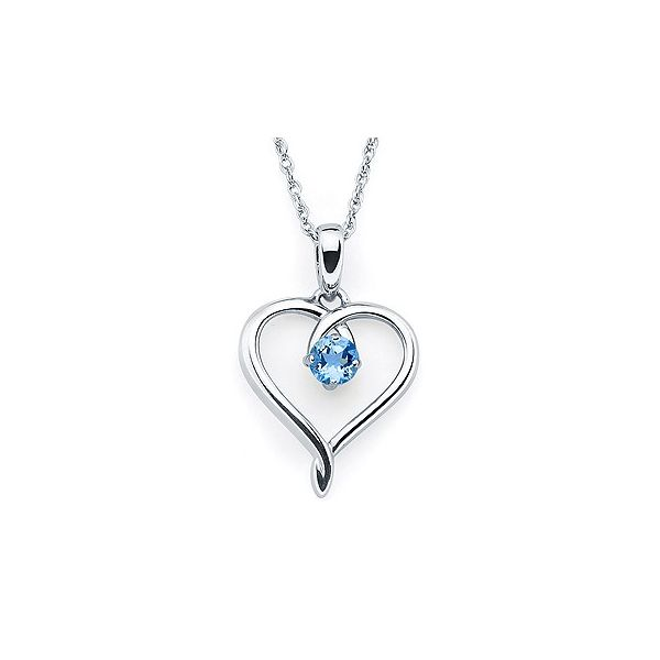 Simulated Zircon Heart Pendant Holliday Jewelry Klamath Falls, OR