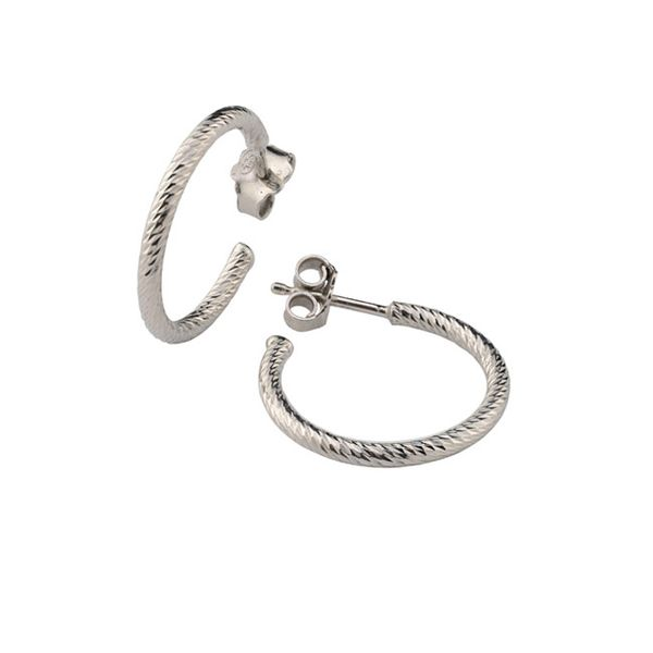 Frederic Duclos sparkle hoop earrings Holliday Jewelry Klamath Falls, OR