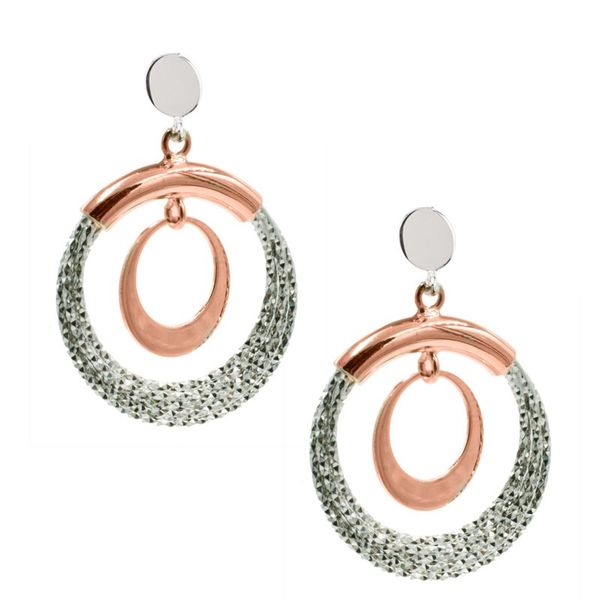 Frederic Duclos two tone circle earrings Holliday Jewelry Klamath Falls, OR