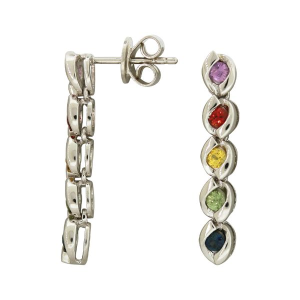 Genuine rainbow sapphire earrings. Holliday Jewelry Klamath Falls, OR