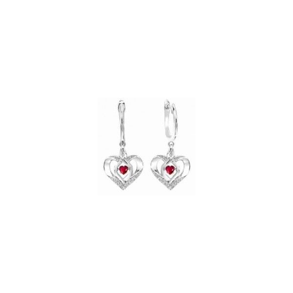 Created Ruby Heart Earrings Holliday Jewelry Klamath Falls, OR