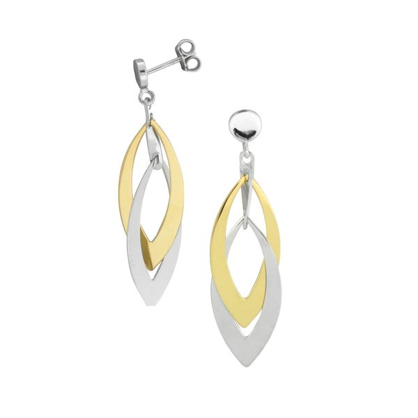 Frederic Duclos two tone layered earrings Holliday Jewelry Klamath Falls, OR