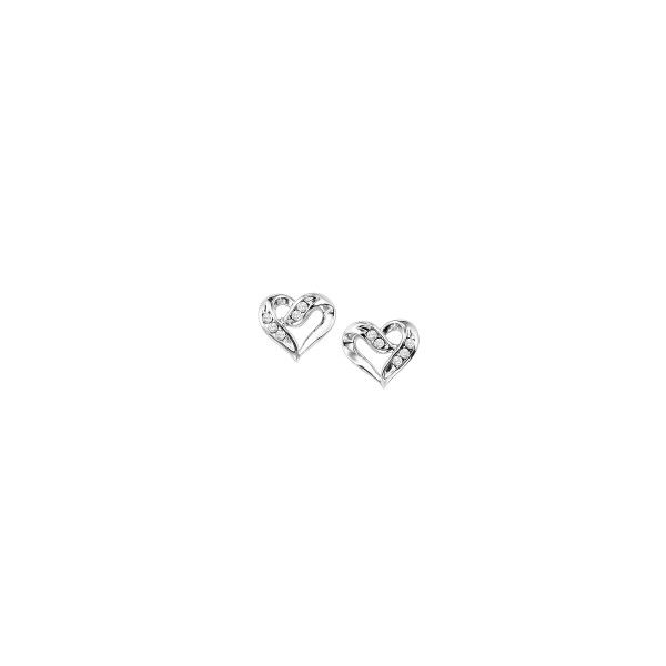 Heart shaped diamond earrings. Holliday Jewelry Klamath Falls, OR
