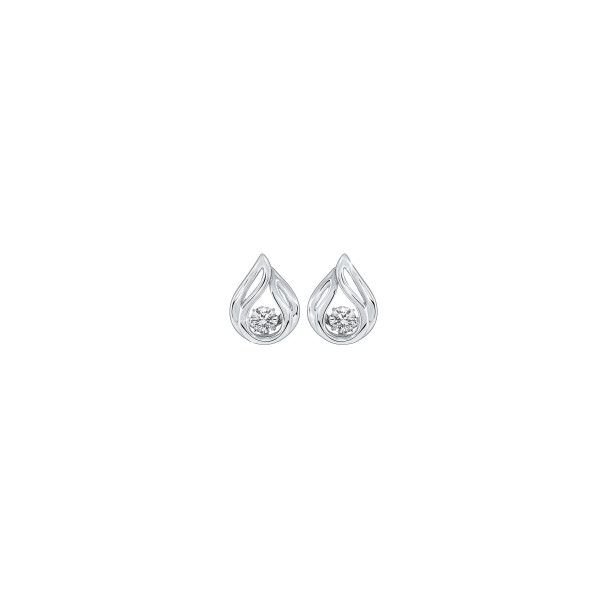 Sterling silver shimmering CZ earrings. Holliday Jewelry Klamath Falls, OR