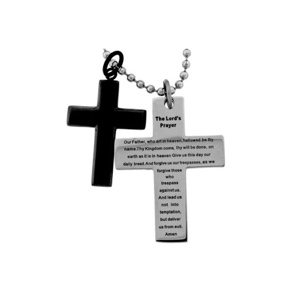 Lord's Prayer Double Cross Pendant Holliday Jewelry Klamath Falls, OR