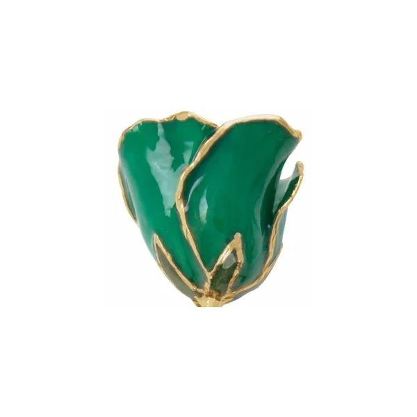 Lacquered green rose. Holliday Jewelry Klamath Falls, OR