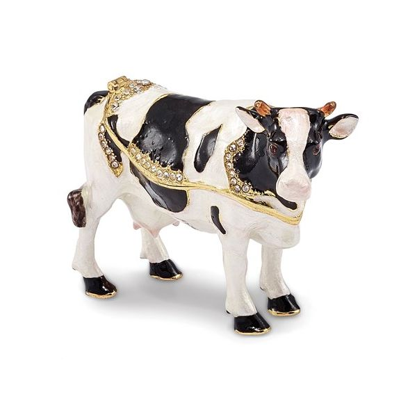 Holstein cow trinket box. Holliday Jewelry Klamath Falls, OR