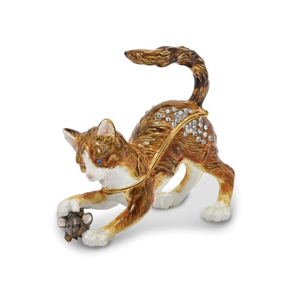 Thom & Jere cat trinket box. Holliday Jewelry Klamath Falls, OR