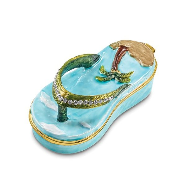 Sandal trinket box. Holliday Jewelry Klamath Falls, OR