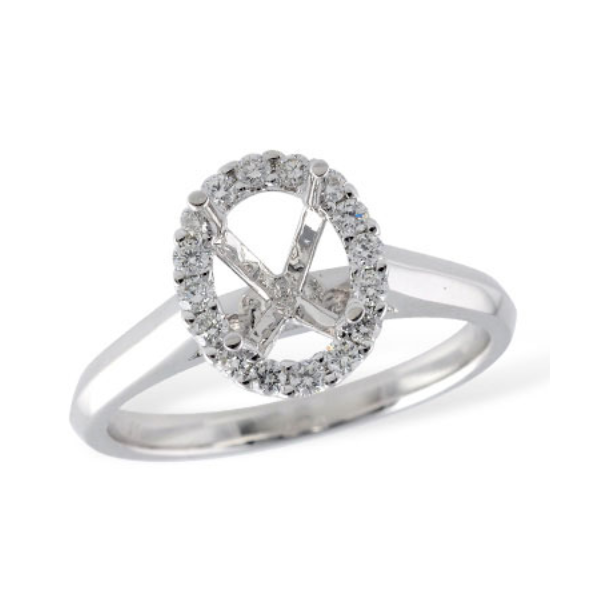 Classic Oval Halo Engagement Ring Image 2 Holtan's Jewelry Winona, MN