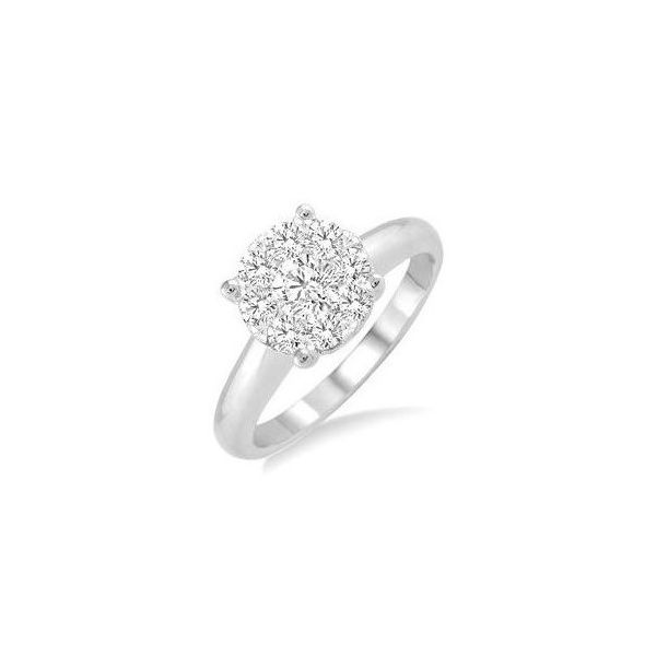 Clustered Round Engagement Ring Holtan's Jewelry Winona, MN