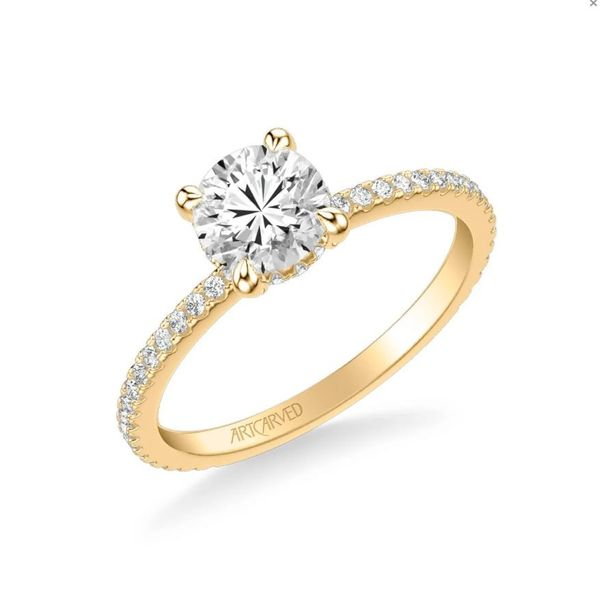 Chelsea Classic Side Stone Engagement Ring Holtan's Jewelry Winona, MN