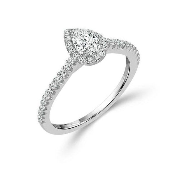 Pear Shaped Halo Engagement Ring Holtan's Jewelry Winona, MN