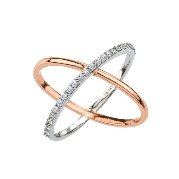 White and Rose Gold Diamond Fashion Ring Holtan's Jewelry Winona, MN
