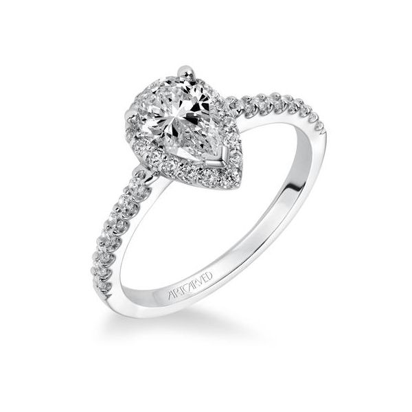 Pear Halo Engagement Ring *SETTING ONLY* Holtan's Jewelry Winona, MN