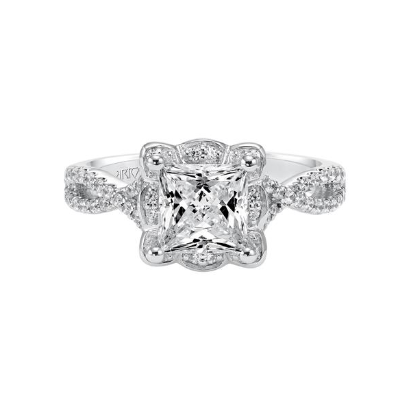 Leslie Vintage Halo Engagement Ring Image 2 Holtan's Jewelry Winona, MN
