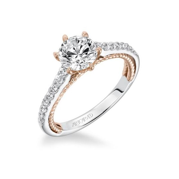 Two Tone Engagement Ring Setting Only Holtan S Jewelry Winona Mn