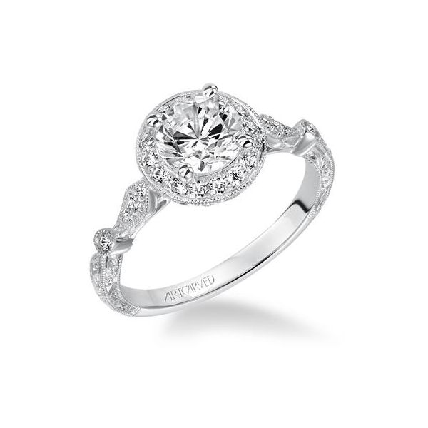Round Halo Engagement Ring *SETTING ONLY* Holtan's Jewelry Winona, MN