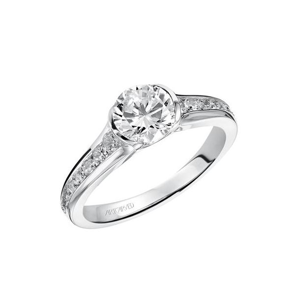 Half-Bezel Solitaire Engagement Ring *SETTING ONLY* Holtan's Jewelry Winona, MN