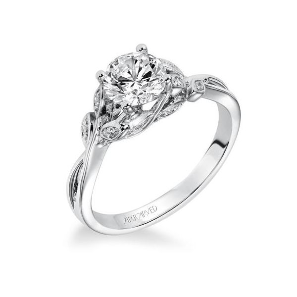 Floral Inspired Engagement Ring *SETTING ONLY* Holtan's Jewelry Winona, MN