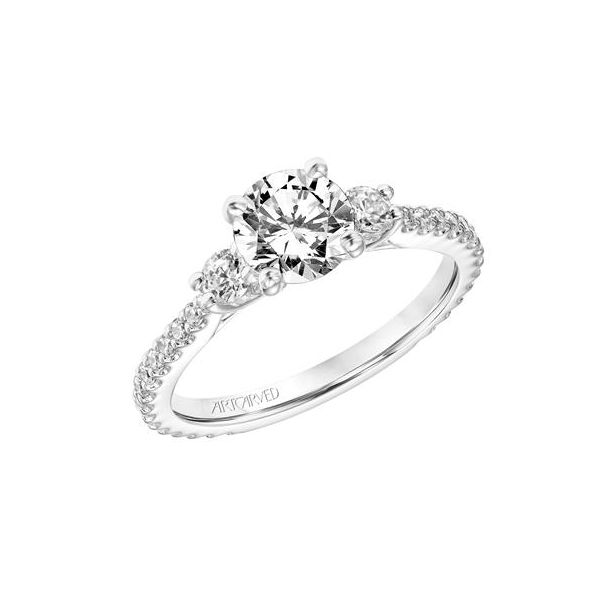 Classic Three Stone Engagement Ring *SETTING ONLY* Holtan's Jewelry Winona, MN