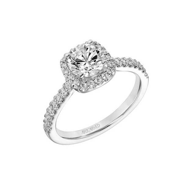 Cushion Halo Engagement Ring *SETTING ONLY* Holtan's Jewelry Winona, MN