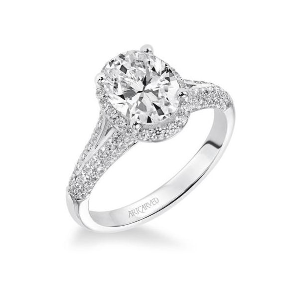Oval Halo Engagement Ring *SETTING ONLY* Holtan's Jewelry Winona, MN
