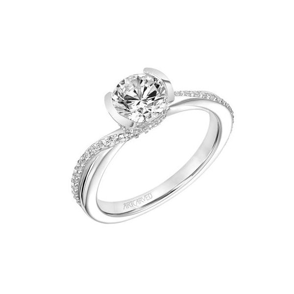 Half-Bezel Twist Engagement Ring *SETTING ONLY* Holtan's Jewelry Winona, MN