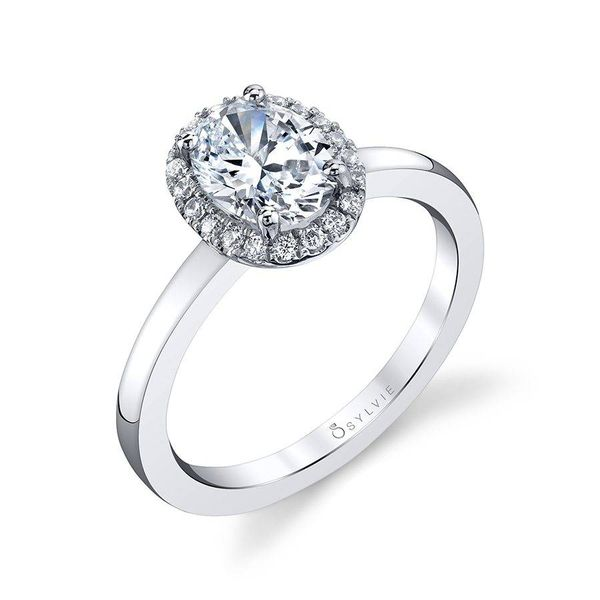 Modern Oval Halo Engagement Ring *SETTING ONLY* Sample available for in-store viewing. Holtan's Jewelry Winona, MN