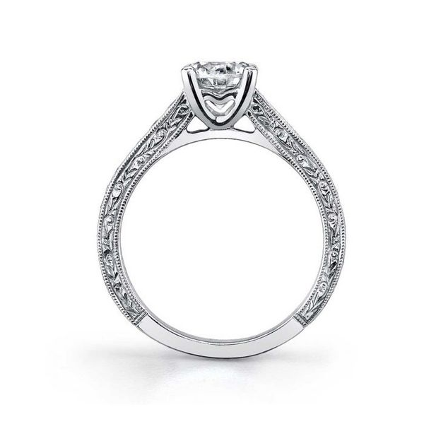 DESIRAE - ROUND HAND ENGRAVED ENGAGEMENT RING *SETTING ONLY* Image 2 Holtan's Jewelry Winona, MN