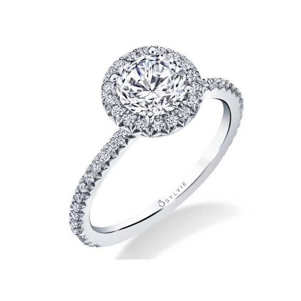 VIVIAN - CLASSIC HALO ENGAGEMENT RING *SETTING ONLY* Holtan's Jewelry Winona, MN