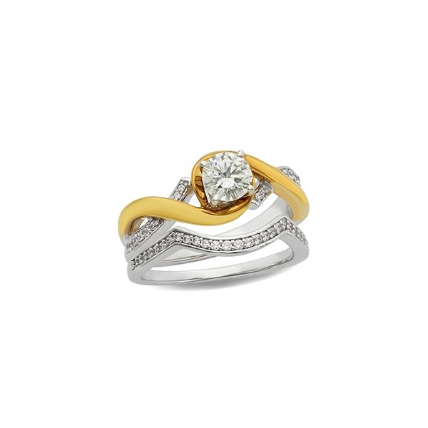 Two-Tone Swirl Engagement Ring Holtan's Jewelry Winona, MN