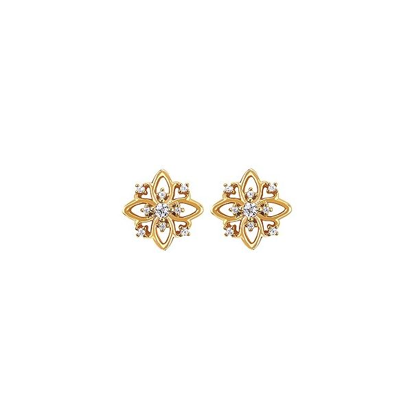 Diamond Floral Inspired Earrings Holtan's Jewelry Winona, MN