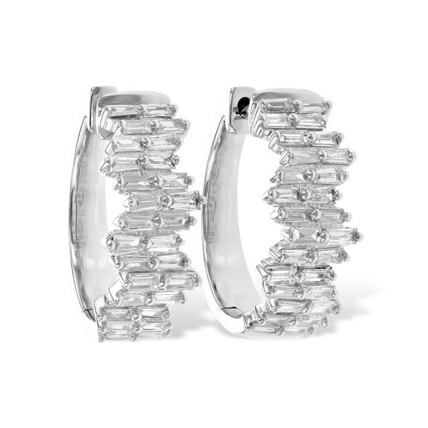 Diamond Baguette Hoop Earrings Holtan's Jewelry Winona, MN