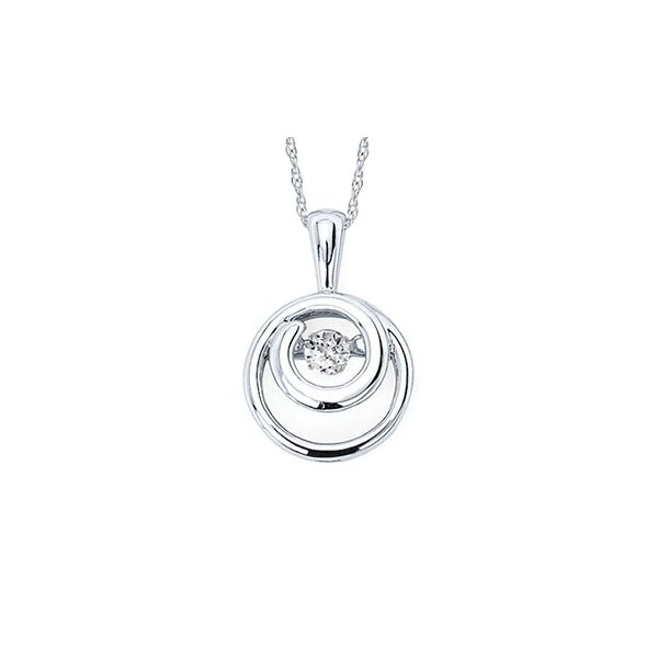 Shimmering Diamonds® Embedded Circle Pendant Holtan's Jewelry Winona, MN