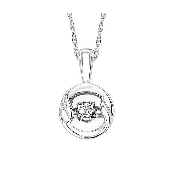 Shimmering Diamonds® Circle Pendant Holtan's Jewelry Winona, MN