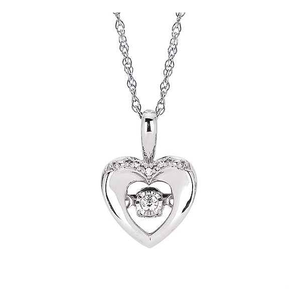 Shimmering Diamonds® Heart Pendant Holtan's Jewelry Winona, MN