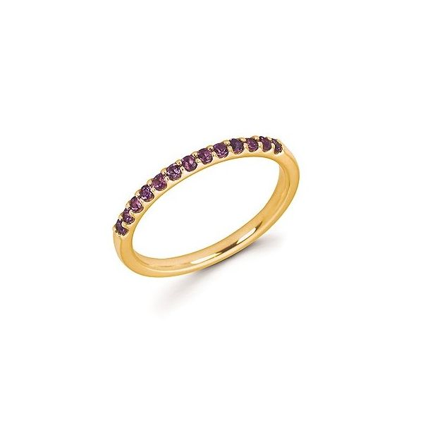 14k Yellow Gold Amethyst Stackable Ring Holtan's Jewelry Winona, MN