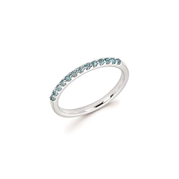 14k White Gold Blue Topaz Stackable Ring Holtan's Jewelry Winona, MN