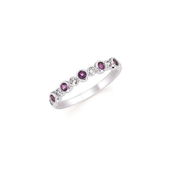 Diamond and Amethyst Stackable Birthstone Ring Holtan's Jewelry Winona, MN