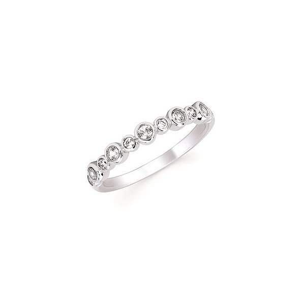 Diamond and Created White Sapphire Stackable Birthstone Ring Holtan's Jewelry Winona, MN