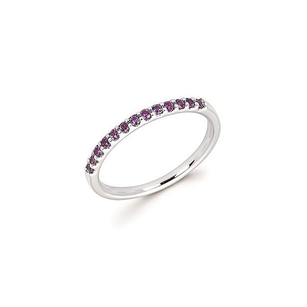 14k White Gold Created Alexandrite Stackable Ring Holtan's Jewelry Winona, MN